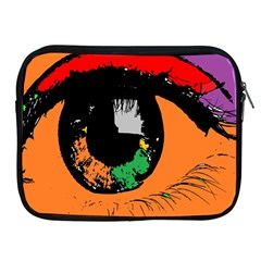 Eyes Makeup Human Drawing Color Apple Ipad 2/3/4 Zipper Cases