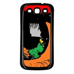 Eyes Makeup Human Drawing Color Samsung Galaxy S3 Back Case (black)