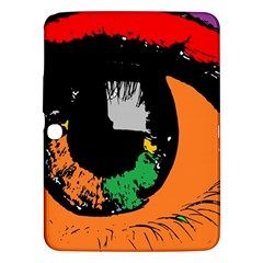 Eyes Makeup Human Drawing Color Samsung Galaxy Tab 3 (10 1 ) P5200 Hardshell Case