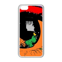 Eyes Makeup Human Drawing Color Apple Iphone 5c Seamless Case (white)