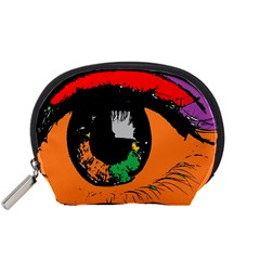 Eyes Makeup Human Drawing Color Accessory Pouches (small)