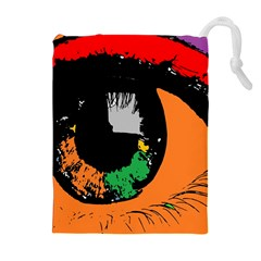 Eyes Makeup Human Drawing Color Drawstring Pouches (extra Large)