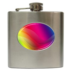 Background Wallpaper Design Texture Hip Flask (6 Oz)