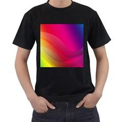 Background Wallpaper Design Texture Men s T Shirt (black) (two Sided)