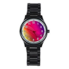Background Wallpaper Design Texture Stainless Steel Round Watch