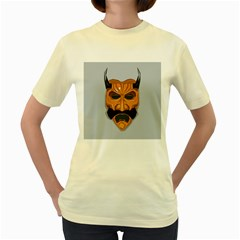 Mask India South Culture Women s Yellow T Shirt