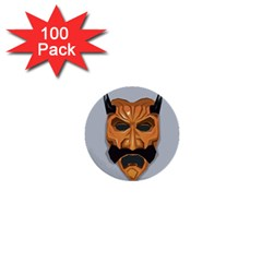Mask India South Culture 1  Mini Buttons (100 Pack)
