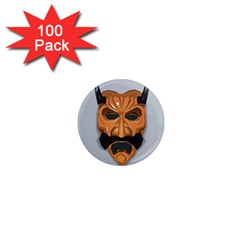 Mask India South Culture 1  Mini Magnets (100 Pack)
