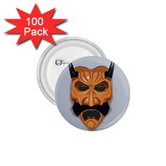 Mask India South Culture 1 75  Buttons (100 Pack)