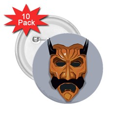 Mask India South Culture 2 25  Buttons (10 Pack)