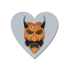 Mask India South Culture Heart Magnet