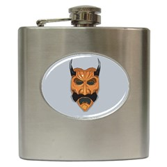 Mask India South Culture Hip Flask (6 Oz)