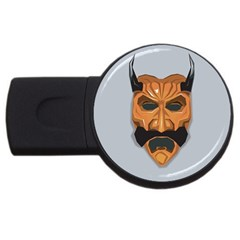 Mask India South Culture Usb Flash Drive Round (2 Gb)