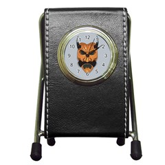 Mask India South Culture Pen Holder Desk Clocks