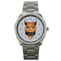 Mask India South Culture Sport Metal Watch