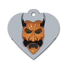 Mask India South Culture Dog Tag Heart (one Side)