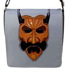 Mask India South Culture Flap Messenger Bag (s)