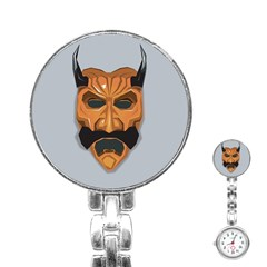 Mask India South Culture Stainless Steel Nurses Watch