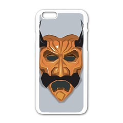 Mask India South Culture Apple Iphone 6/6s White Enamel Case