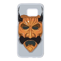 Mask India South Culture Samsung Galaxy S7 Edge White Seamless Case by Nexatart