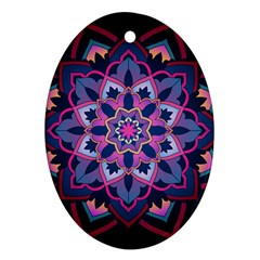 Mandala Circular Pattern Ornament (oval)