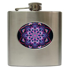 Mandala Circular Pattern Hip Flask (6 Oz) by Nexatart
