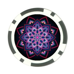 Mandala Circular Pattern Poker Chip Card Guard (10 Pack)