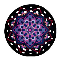Mandala Circular Pattern Round Filigree Ornament (two Sides)