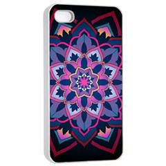 Mandala Circular Pattern Apple Iphone 4/4s Seamless Case (white)