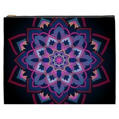 Mandala Circular Pattern Cosmetic Bag (xxxl)