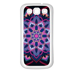 Mandala Circular Pattern Samsung Galaxy S3 Back Case (white)