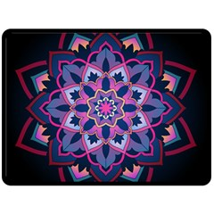 Mandala Circular Pattern Double Sided Fleece Blanket (large)