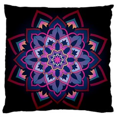 Mandala Circular Pattern Large Flano Cushion Case (one Side) by Nexatart