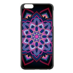 Mandala Circular Pattern Apple Iphone 6 Plus/6s Plus Black Enamel Case