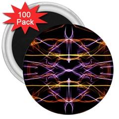 Wallpaper Abstract Art Light 3  Magnets (100 Pack)
