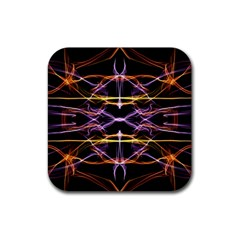 Wallpaper Abstract Art Light Rubber Square Coaster (4 Pack)