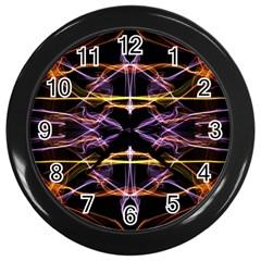 Wallpaper Abstract Art Light Wall Clocks (black)