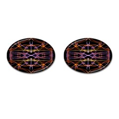 Wallpaper Abstract Art Light Cufflinks (oval)