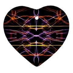 Wallpaper Abstract Art Light Heart Ornament (two Sides)