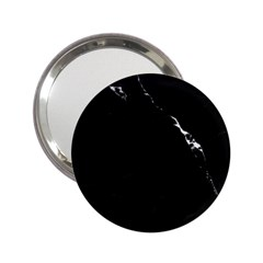 Black Marble Tiles Rock Stone Statues 2 25  Handbag Mirrors