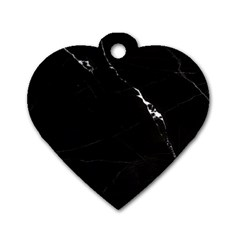 Black Marble Tiles Rock Stone Statues Dog Tag Heart (one Side)