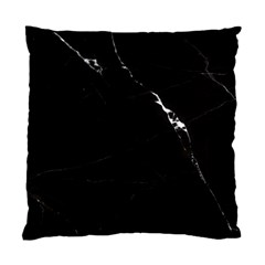 Black Marble Tiles Rock Stone Statues Standard Cushion Case (two Sides) by Nexatart