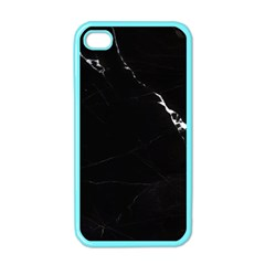 Black Marble Tiles Rock Stone Statues Apple Iphone 4 Case (color)