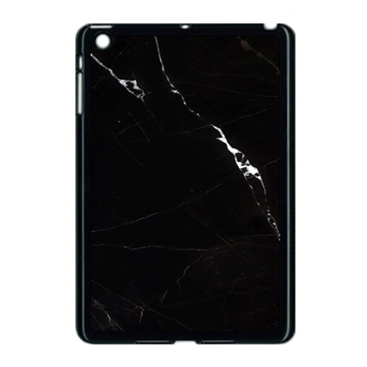 Black Marble Tiles Rock Stone Statues Apple iPad Mini Case (Black)
