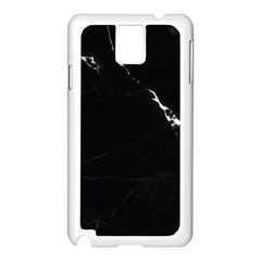 Black Marble Tiles Rock Stone Statues Samsung Galaxy Note 3 N9005 Case (white)