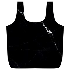 Black Marble Tiles Rock Stone Statues Full Print Recycle Bags (l)