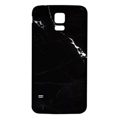 Black Marble Tiles Rock Stone Statues Samsung Galaxy S5 Back Case (white)