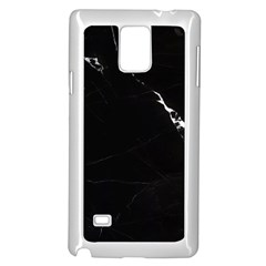 Black Marble Tiles Rock Stone Statues Samsung Galaxy Note 4 Case (white)