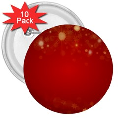 Background Abstract Christmas 3  Buttons (10 Pack)