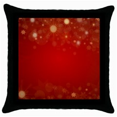 Background Abstract Christmas Throw Pillow Case (black)